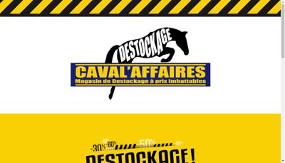 Capture d'écran du site de Caval'Affaires