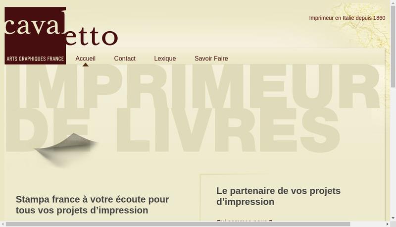 Capture d'écran du site de Stampa France