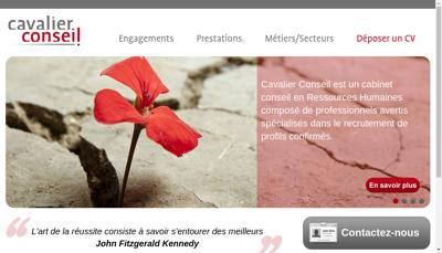 Capture d'écran du site de Cavalier Conseil