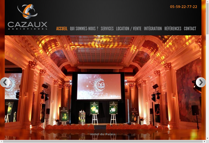 Capture d'écran du site de Cazaux