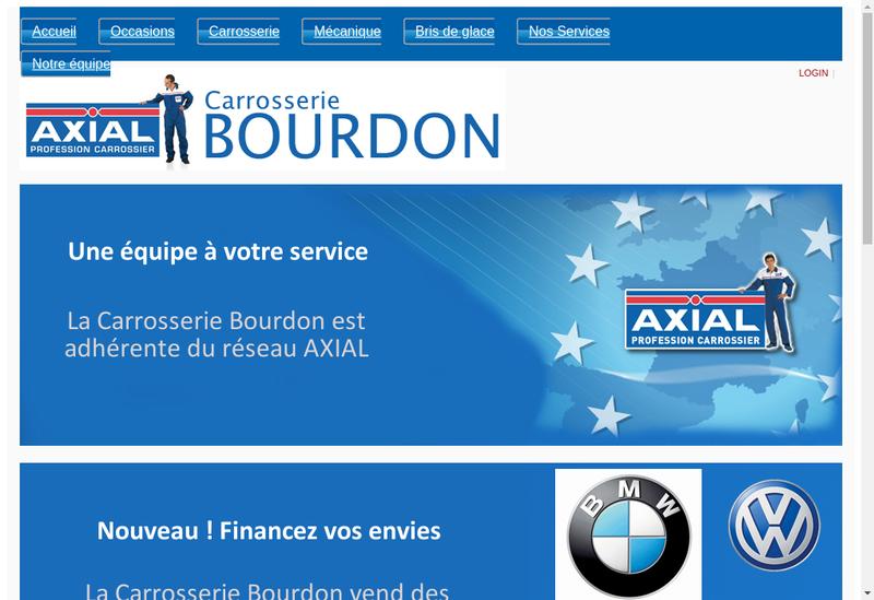 Capture d'écran du site de SARL Carrosserie Bourdon