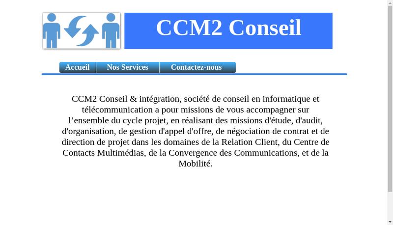 Capture d'écran du site de Ccm2 Conseil Integration
