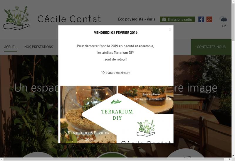 Capture d'écran du site de Jardins des Mur(E)S