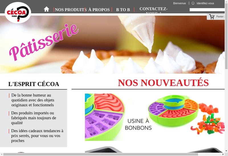Capture d'écran du site de Cecoa Diffusion