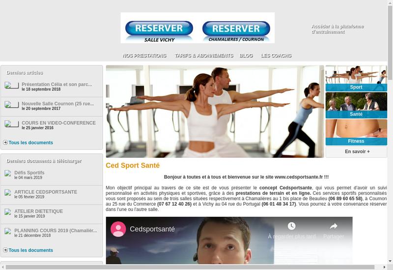 Capture d'écran du site de Cedric Strigiotti