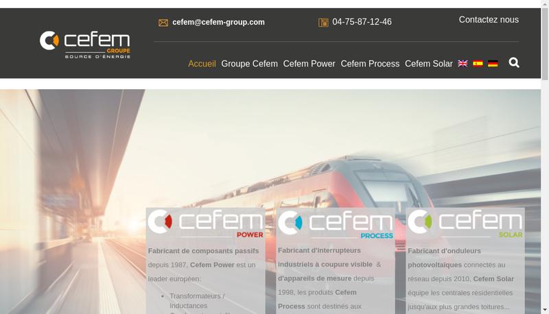 Capture d'écran du site de Cefem Industries