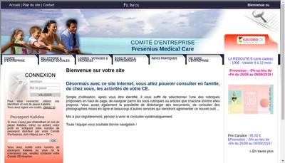 Site internet de Fresenius Medical Care France