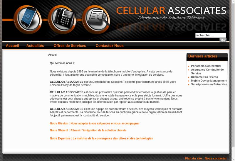 Capture d'écran du site de Atelcar