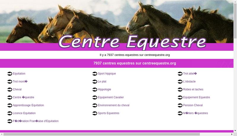 Capture d'écran du site de Centre Equestre Slas Jumping