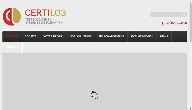 Capture d'écran du site de Certilog