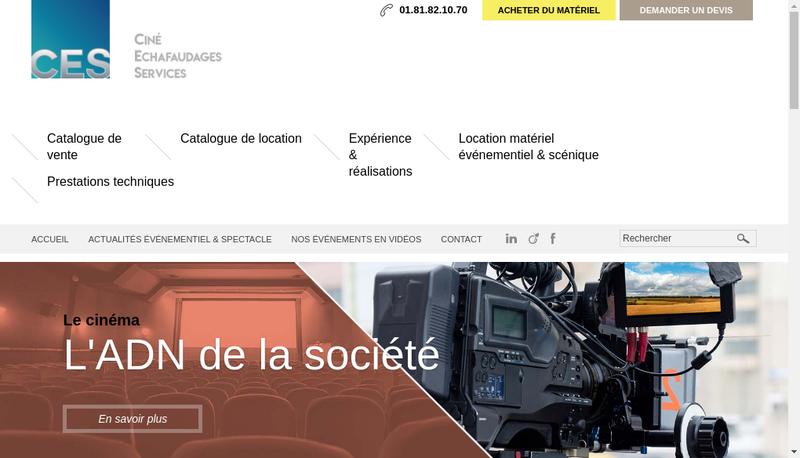Capture d'écran du site de Cine Echafaudages Services