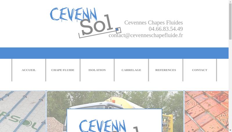 Capture d'écran du site de Cevennes Chape Fluide