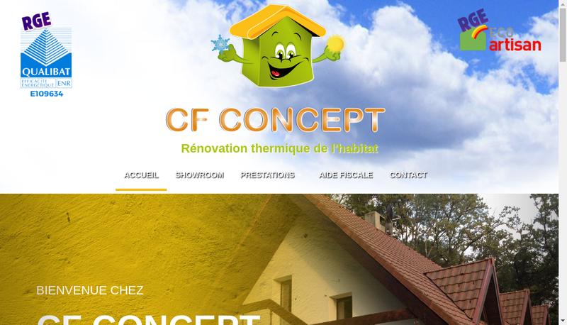 Capture d'écran du site de Amelioration de Votre Habitat