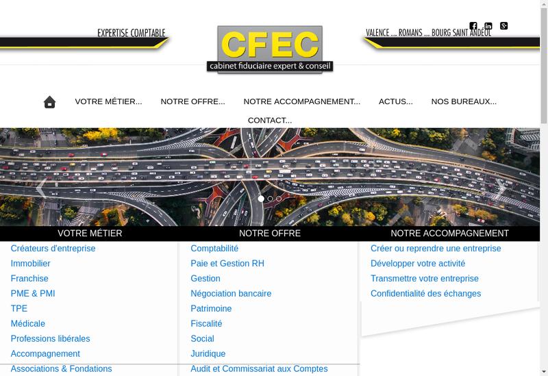 Capture d'écran du site de Cabinet Fiduciaire Expert et Conseil