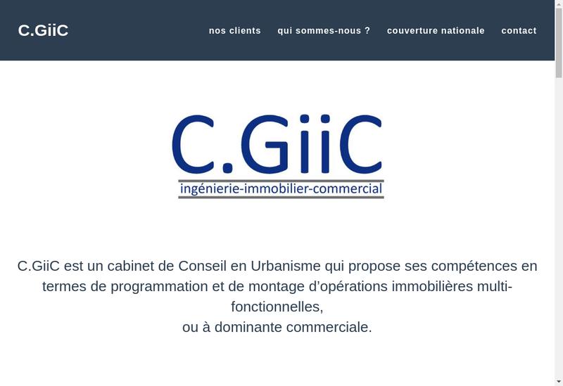 Capture d'écran du site de Cgiic