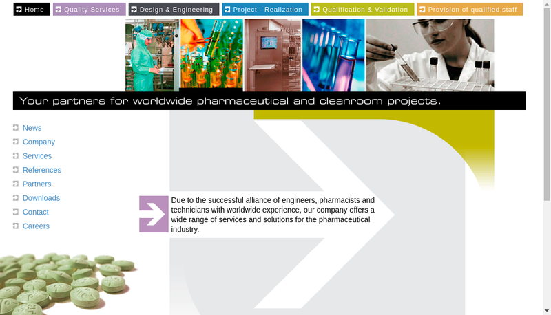 Capture d'écran du site de Cgpharm