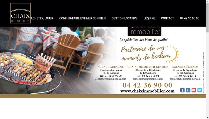 Capture d'écran du site de Cabinet Marlene Chaix