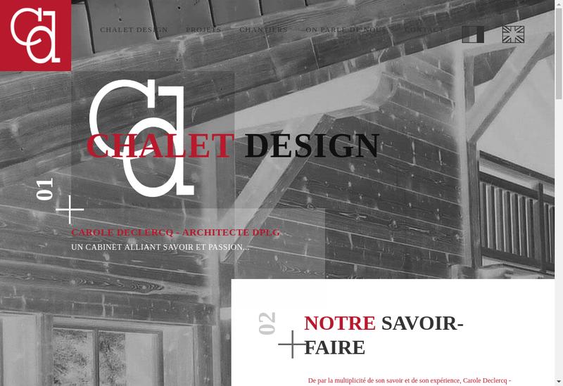 Capture d'écran du site de Chalet Design