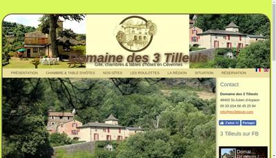 Site internet de Domaine des Trois Tilleuls