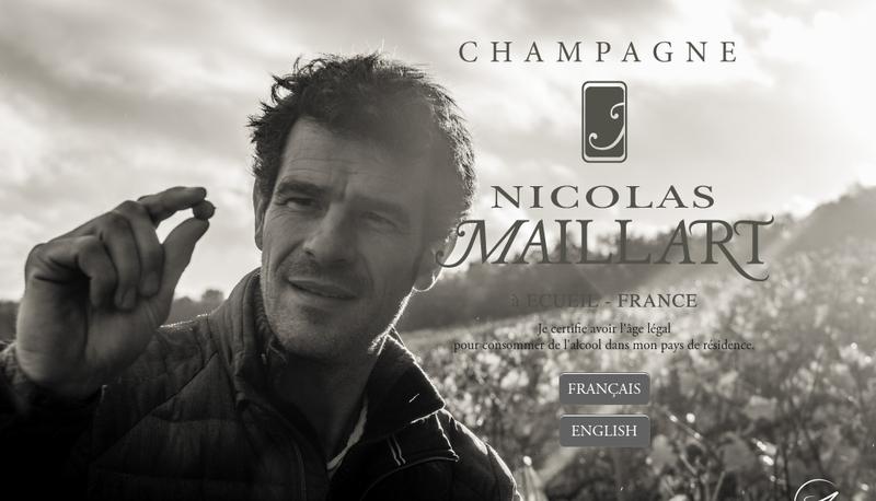 Capture d'écran du site de N Maillart