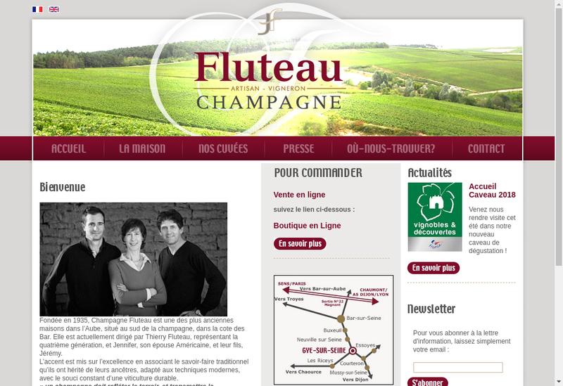 Capture d'écran du site de Etablissements Herard et Fluteau