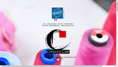 Site internet de Bonneterie Chanteclair
