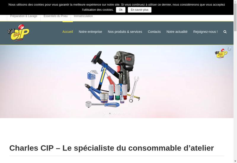 Capture d'écran du site de Charles Cip