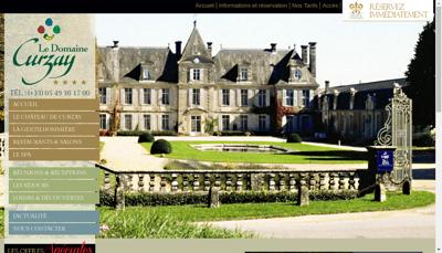 Capture d'écran du site de Chateau de Curzay
