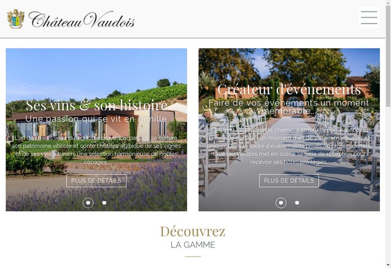 Capture d'écran du site de SCEA Chateau Vaudois