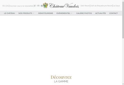 Site internet de SCEA Chateau Vaudois