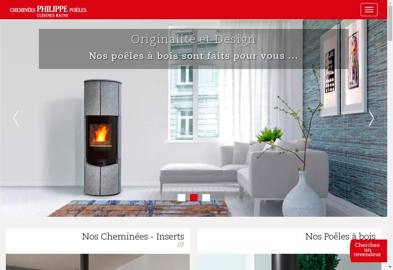 Capture d'écran du site de Les Cheminees Philippe