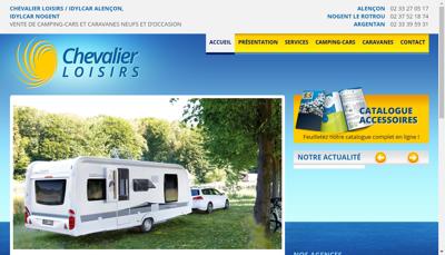 Capture d'écran du site de Chevalier Loisirs 61