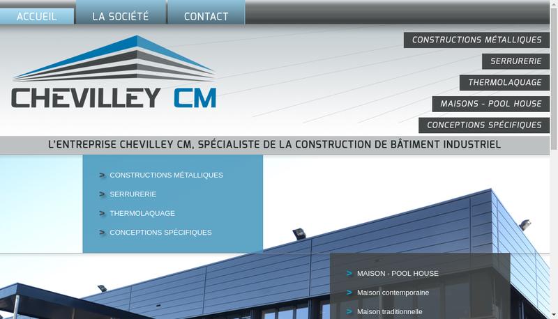 Capture d'écran du site de Chevilley Cm