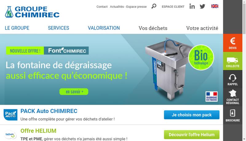Capture d'écran du site de Chimirec-Norec
