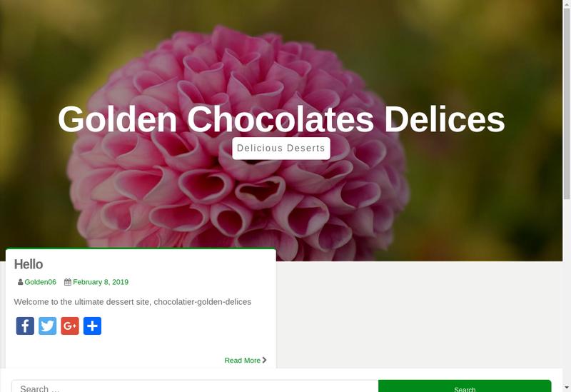 Capture d'écran du site de Golden Delices