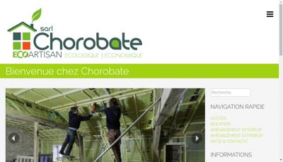 Capture d'écran du site de SARL Chorobate