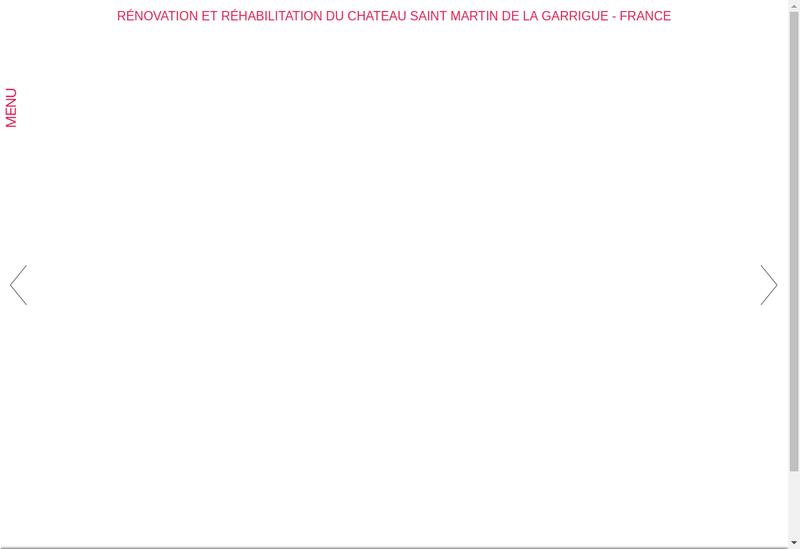 Capture d'écran du site de Ciel Rouge Creation