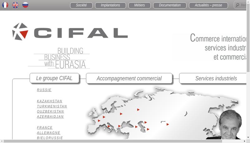 Capture d'écran du site de Cifal Groupe