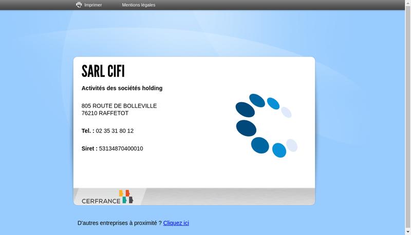 Capture d'écran du site de CIFI