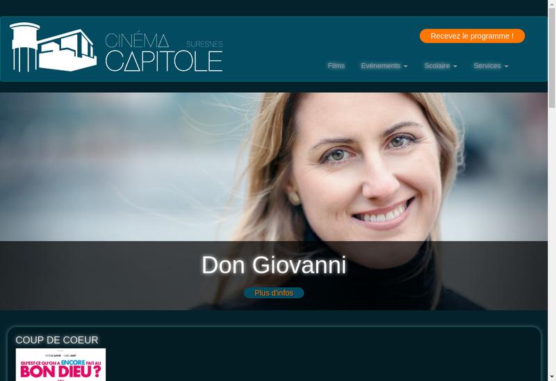 Capture d'écran du site de Le Capitole