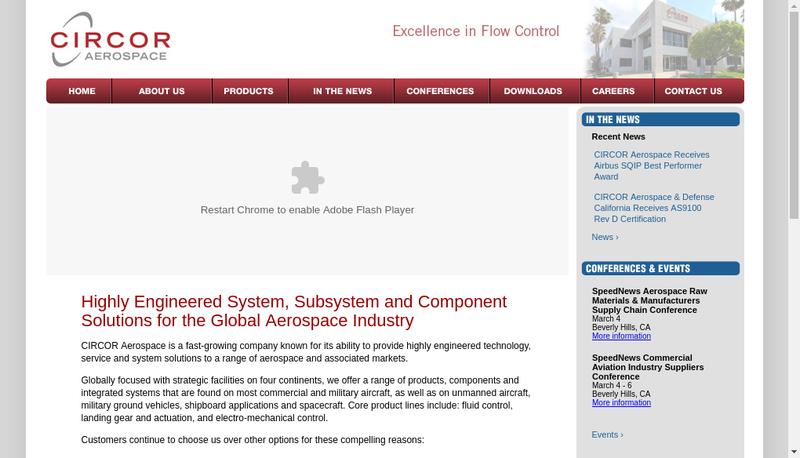Capture d'écran du site de Circor Industria