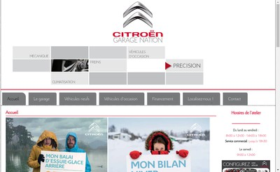 Site internet de Garage Nation