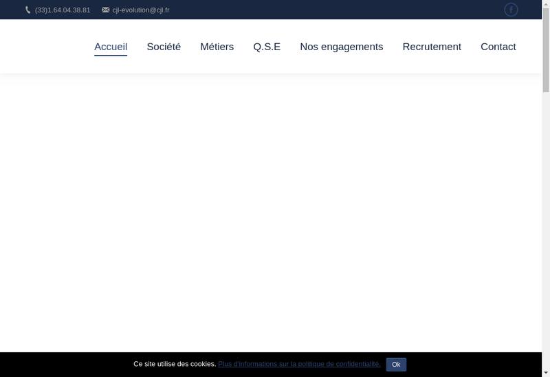 Capture d'écran du site de Cjl Evolution