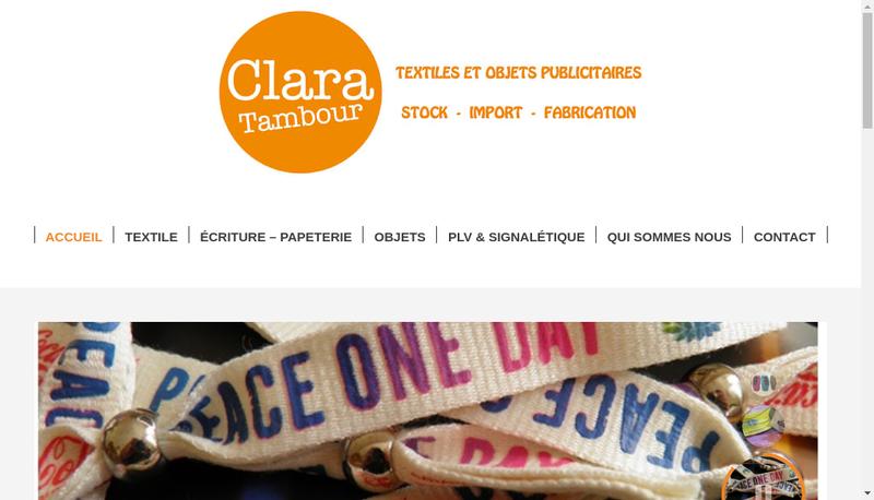 Capture d'écran du site de Clara Tambour
