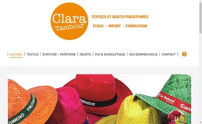 Site internet de Clara Tambour