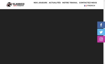 Site internet de Classico Sports Management