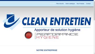 Capture d'écran du site de Clean Entretien