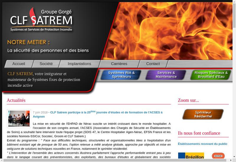 Capture d'écran du site de CLF