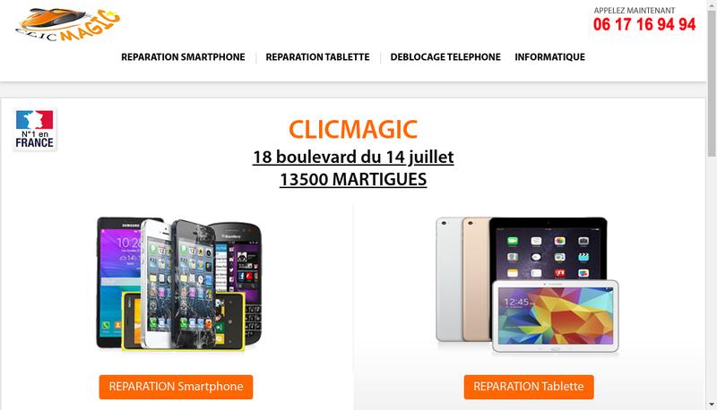 Capture d'écran du site de Atef Gharbi