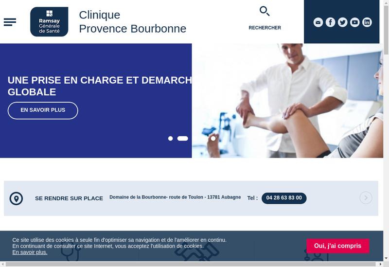 Capture d'écran du site de Clinique Rosemond
